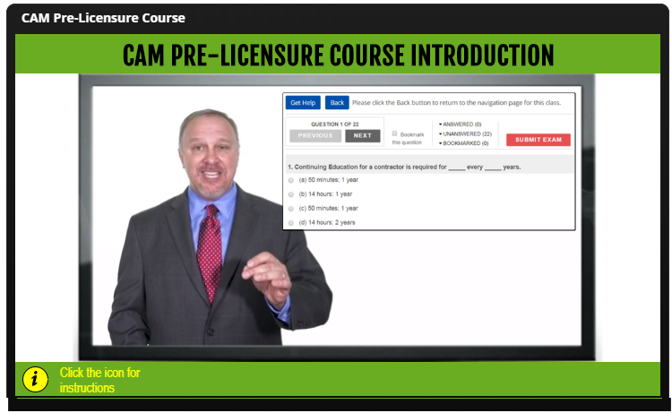 CAM Pre-license Online Course Ipad Image