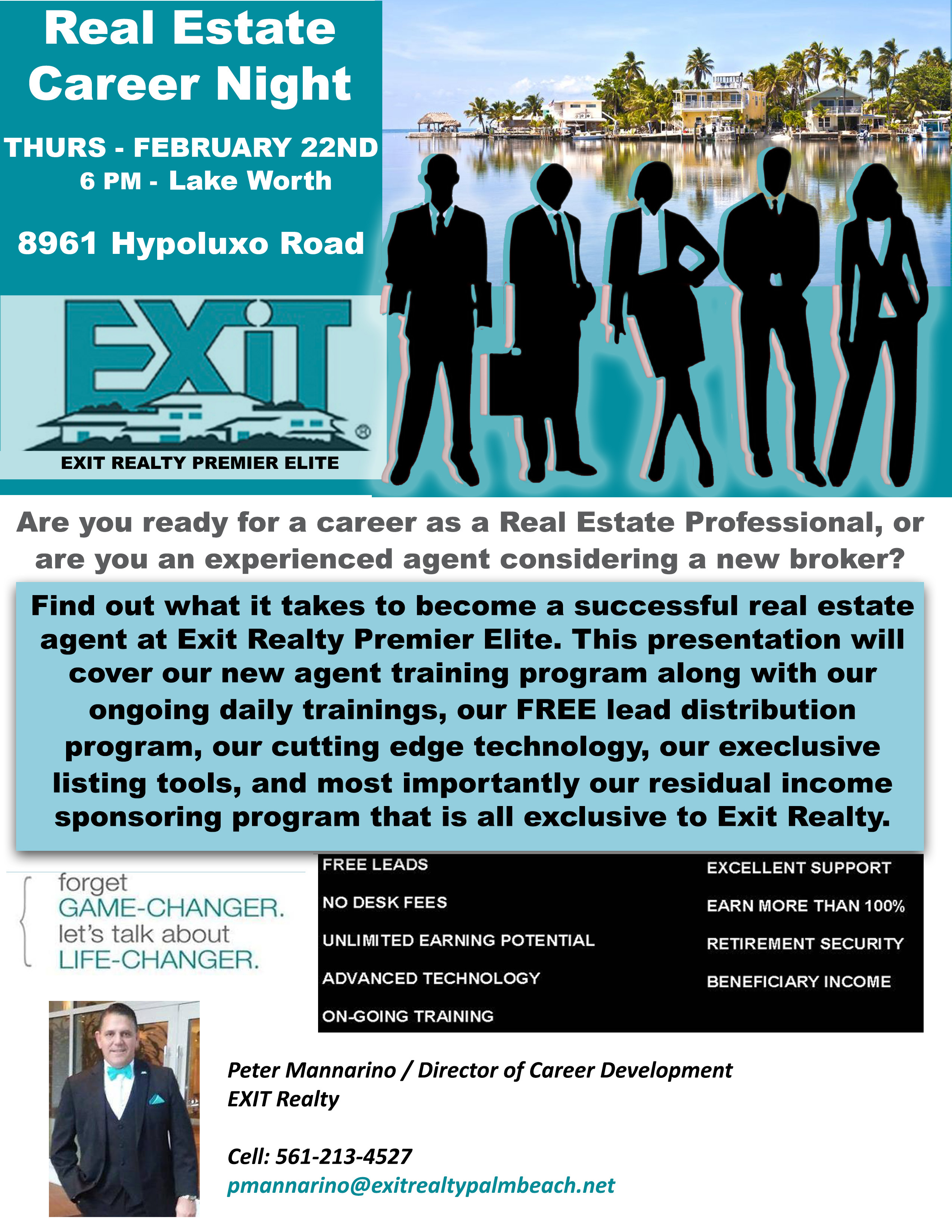Exit Realty Quot Career Night Quot Free Event Thursday 2 22 18 6 00pm Lake Worth Fl Gold Coast